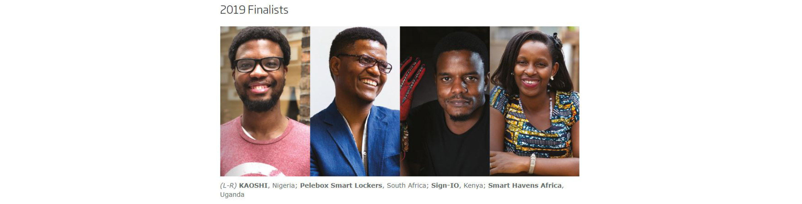 TOP ENGINEERING INNOVATORS ANNOUNCED FOR AFRICA PRIZE FINALS